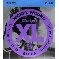 D'Addario Nickel Wound Electric Strings EXL115 Gauge(11-49)