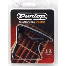 Dunlop Trigger Curved Acoustic Capo Black 83CB