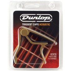 Dunlop Trigger Curved Acoustic Capo Gold 83CG