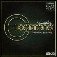 Cleartone Treated 80/20 Bronze Acoustic String Gauge (11-52)