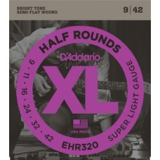 D'Addario Half Rounds Electric Strings EHR320 Gauge(9-42)