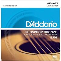D'Addario Phosphor Bronze Acoustic String EJ16 Gauge(12-53)