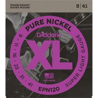 D'Addario Pure Nickel Electric Strings EPN120 Gauge(9-41)