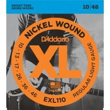 D'Addario Nickel Wound Electric Strings EXL110 Gauge(10-46)