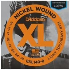 D'Addario Nickel Wound 8 Strings Electric  EXL140-8 Gauge(10-74)