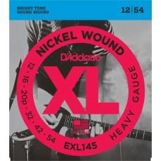 D'Addario Nickel Wound Electric Strings EXL145 Gauge(12-54)