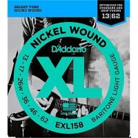 D'Addario Nickel Wound Electric Strings EXL158 Gauge(13-62)