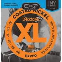 D'Aaddario Coated Nickel Wound Electric Strings EXP110 Gauge(10-46)