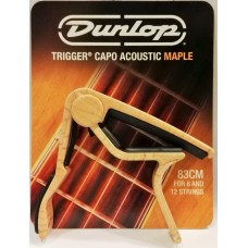 Dunlop Trigger Curved Acoustic Capo Maple Finish 83CM