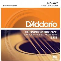 D'Addario Phosphor Bronze Acoustic String EJ15 Gauge(10-47)