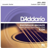D'Addario Phosphor Bronze Acoustic EJ26 Gauge(11-52)