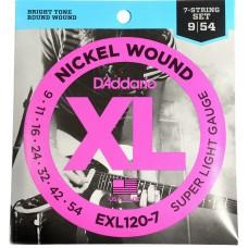 D'Addario Nickel Wound 7 Strings Electric EXL120-7 Gauge(9-54)