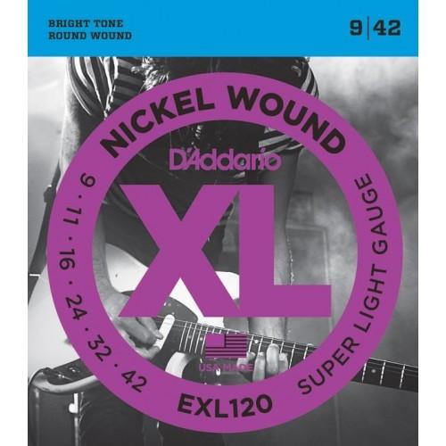 D'Addario Electric Strings EXL120 Gauge (9-42)