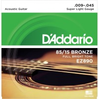 D'Addario 85/15 Bronze Acoustic String EZ890 Gauge(9-45)
