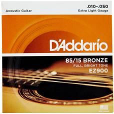 D'Addario 85/15 Bronze Acoustic String EZ900 Gauge(10-50)